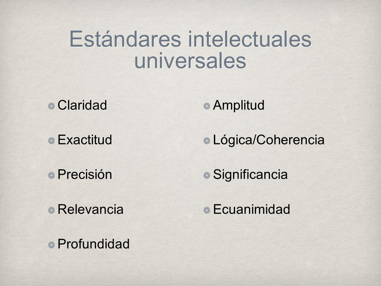 Estándares intelectuales universales