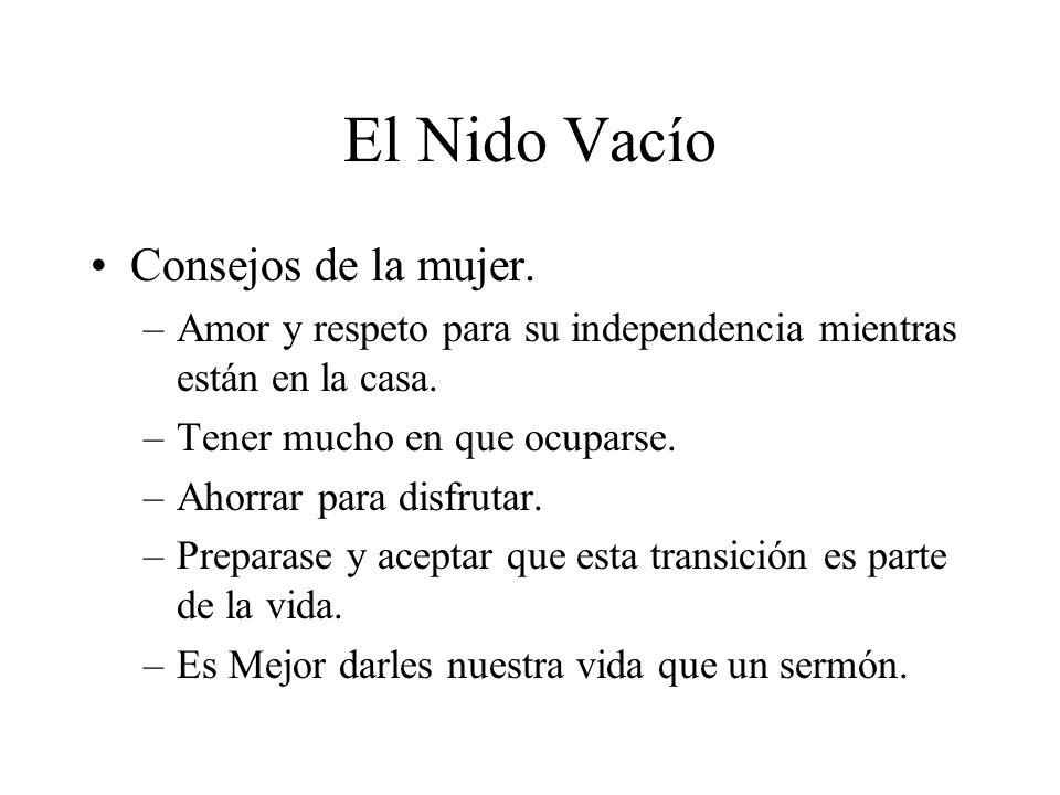 El Nido Vacío Consejos de la mujer.