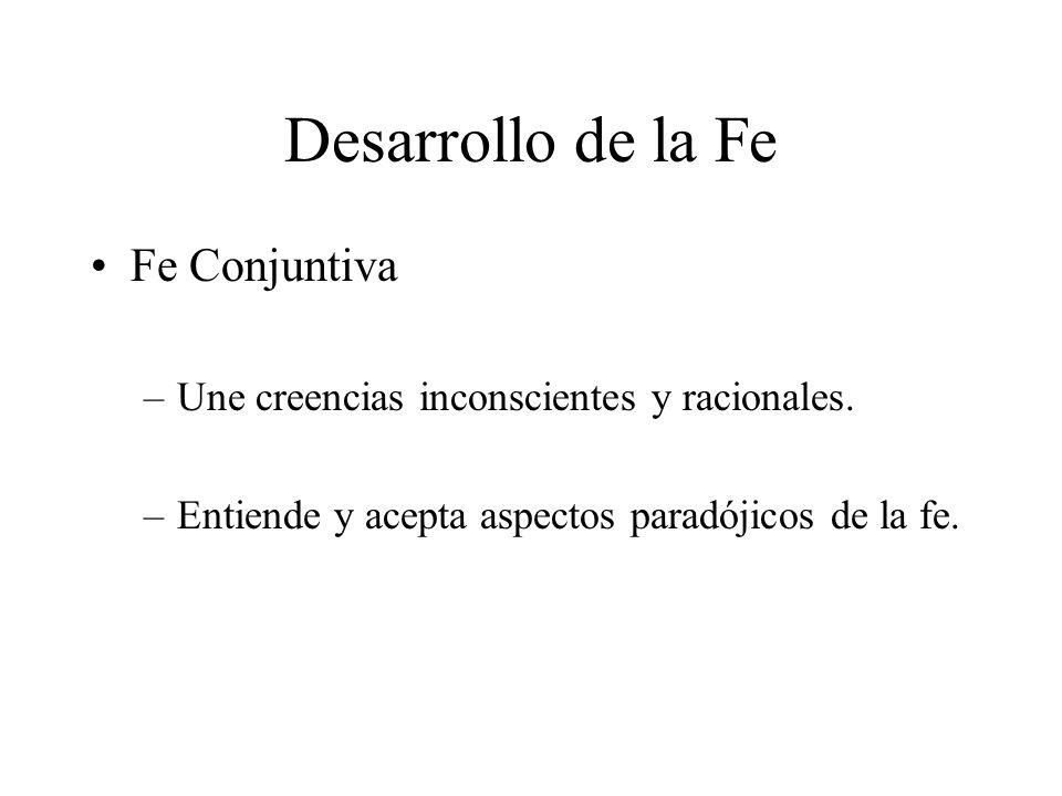 Desarrollo de la Fe Fe Conjuntiva