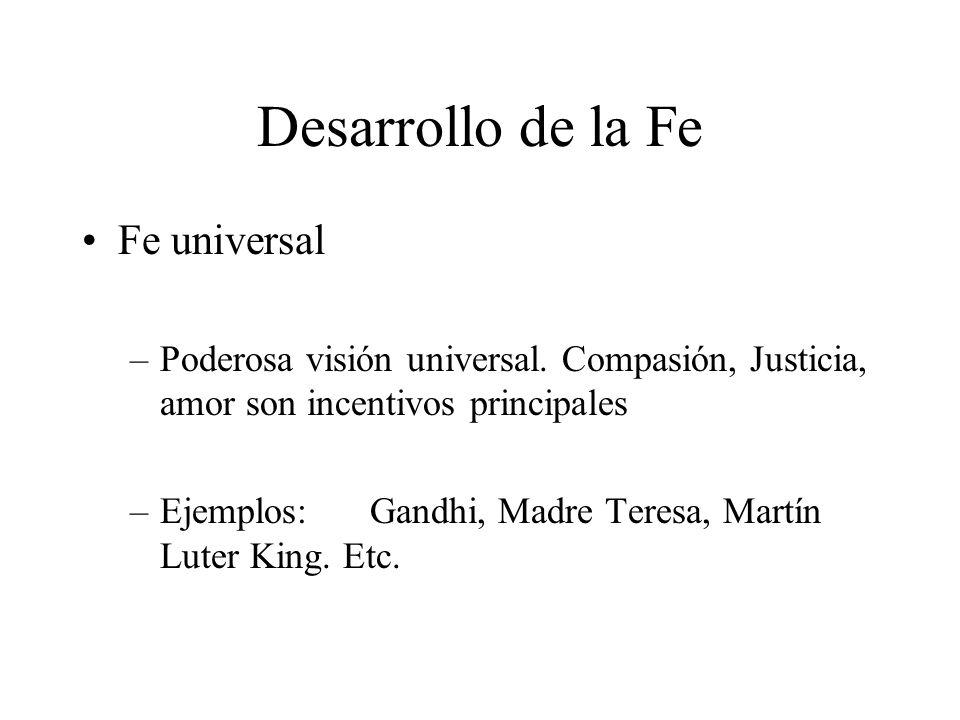 Desarrollo de la Fe Fe universal
