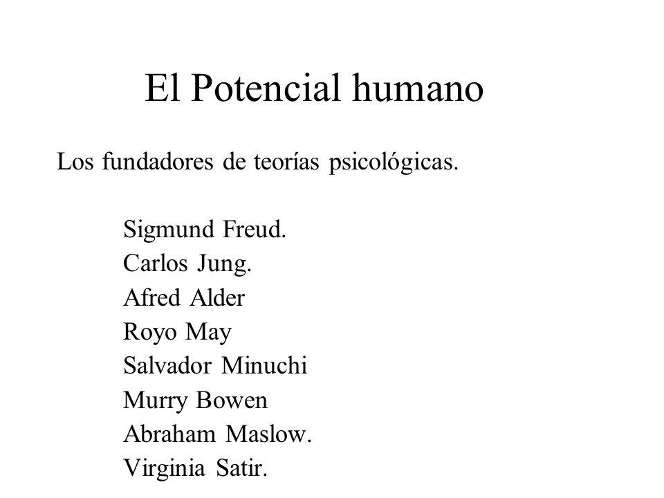 El Potencial humano Los fundadores de teorías psicológicas.