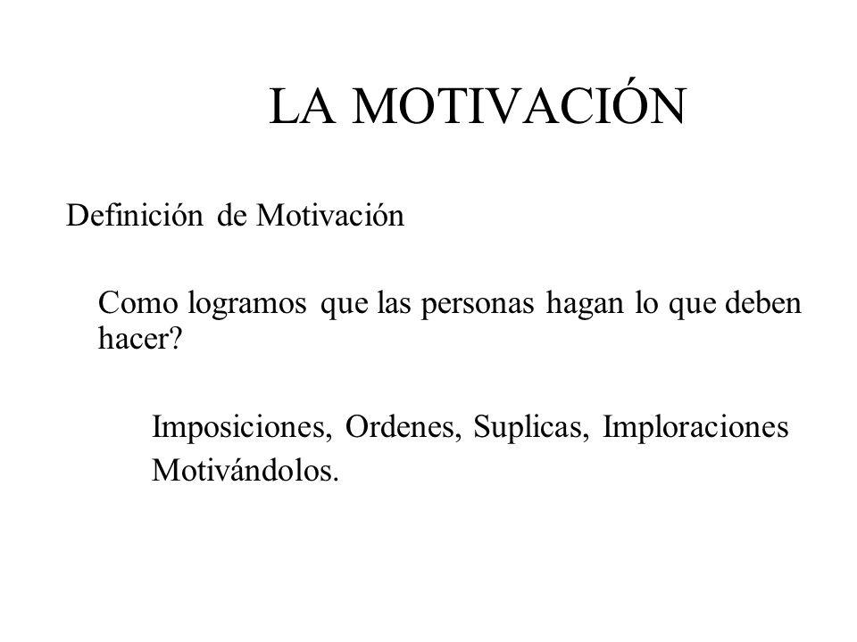 LA MOTIVACIÓN Definición de Motivación