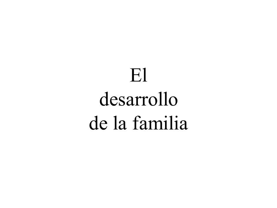 El desarrollo de la familia