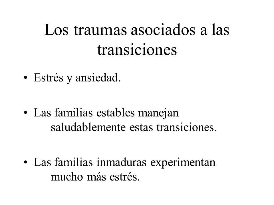 Los traumas asociados a las transiciones
