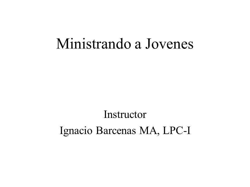 Instructor Ignacio Barcenas MA, LPC-I