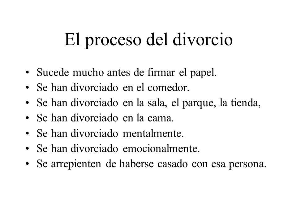El proceso del divorcio