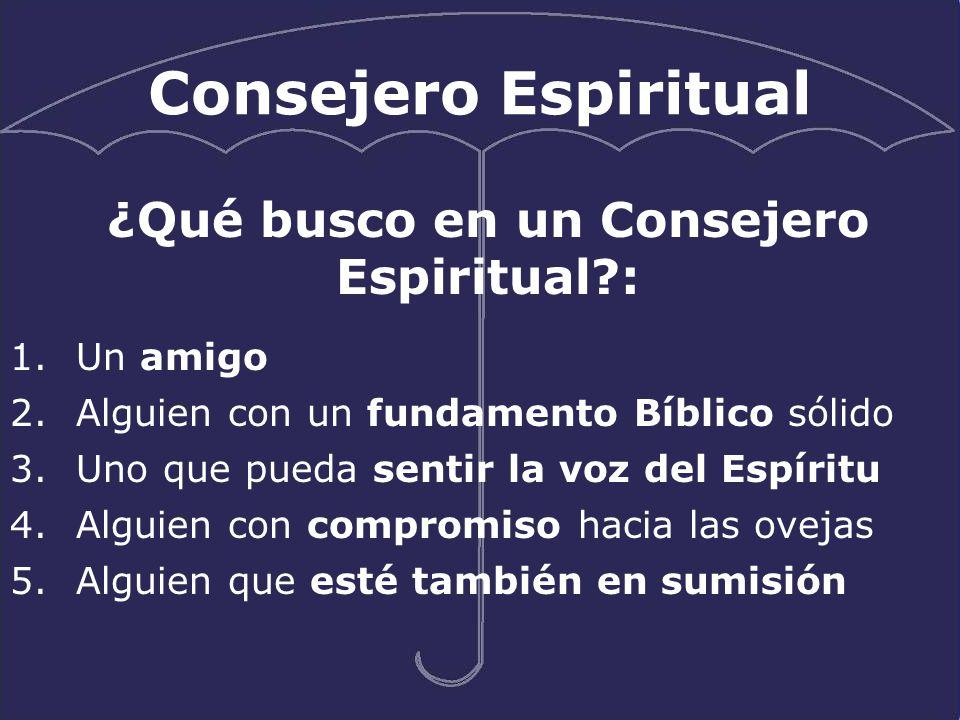 ¿Qué busco en un Consejero Espiritual :