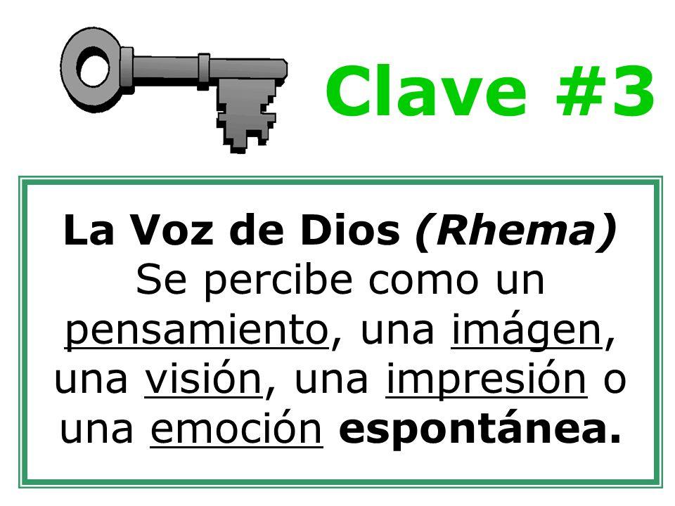 Clave #3 La Voz de Dios (Rhema)