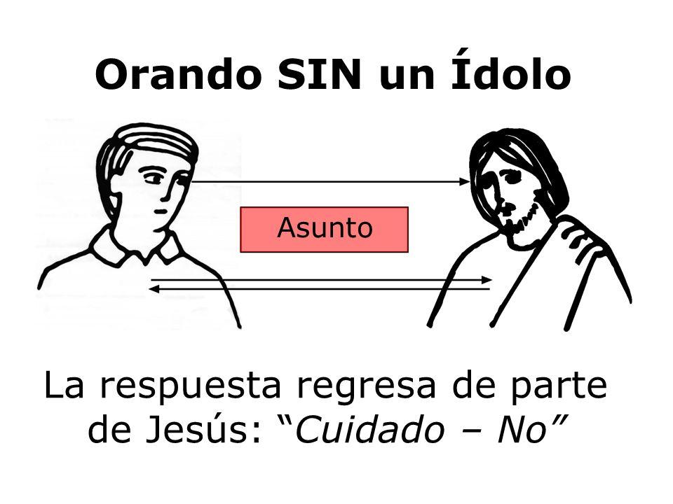La respuesta regresa de parte de Jesús: Cuidado – No