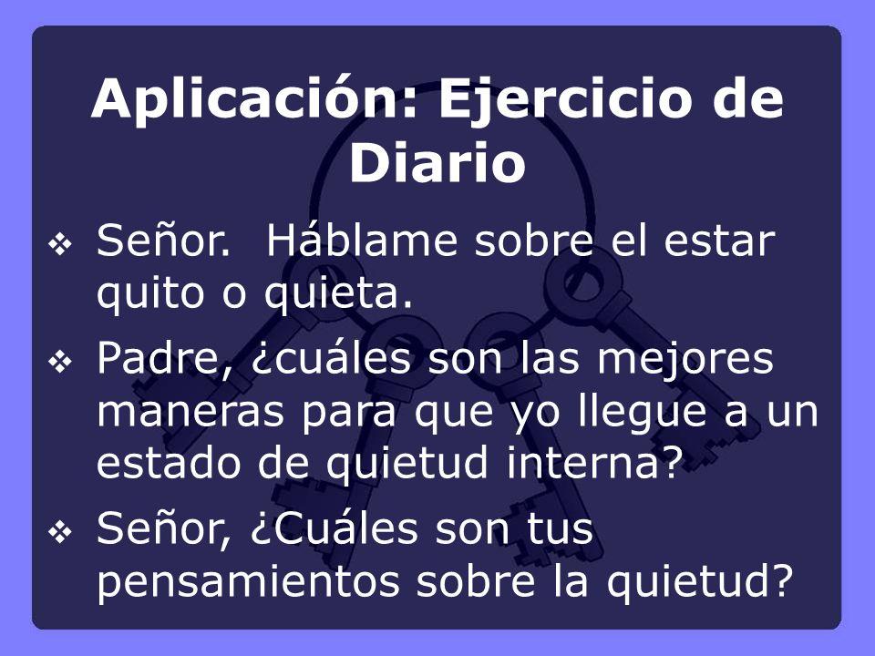 Aplicación: Ejercicio de Diario