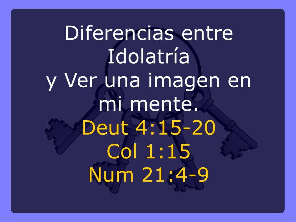 Diferencias entre Idolatría y Ver una imagen en mi mente.