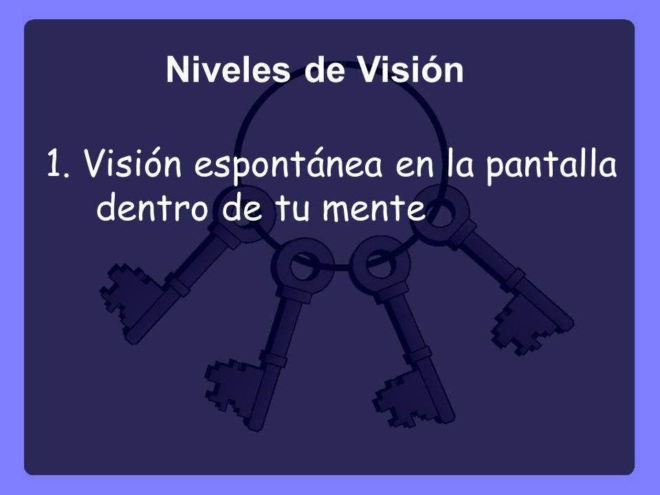 Niveles de Visión 1. Visión espontánea en la pantalla dentro de tu mente