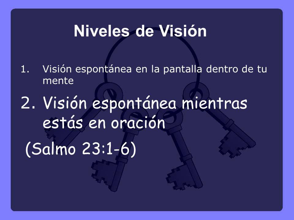 2. Visión espontánea mientras estás en oración (Salmo 23:1-6)