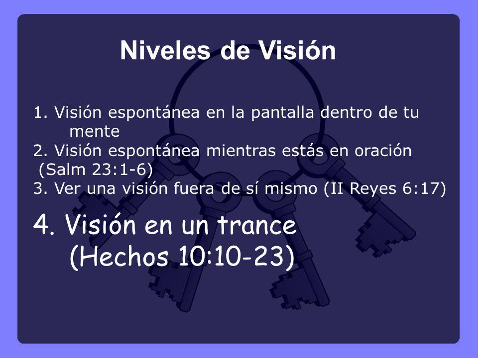 4. Visión en un trance (Hechos 10:10-23)