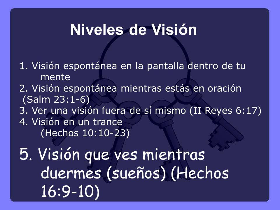 5. Visión que ves mientras duermes (sueños) (Hechos 16:9-10)