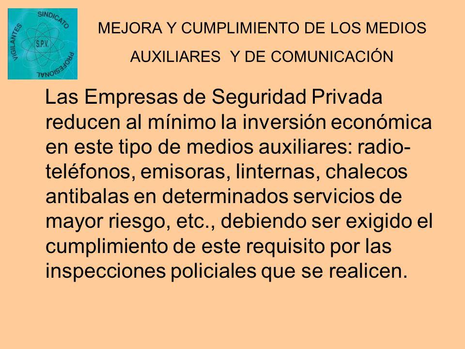 MEJORA Y CUMPLIMIENTO DE LOS MEDIOS AUXILIARES Y DE COMUNICACIÓN