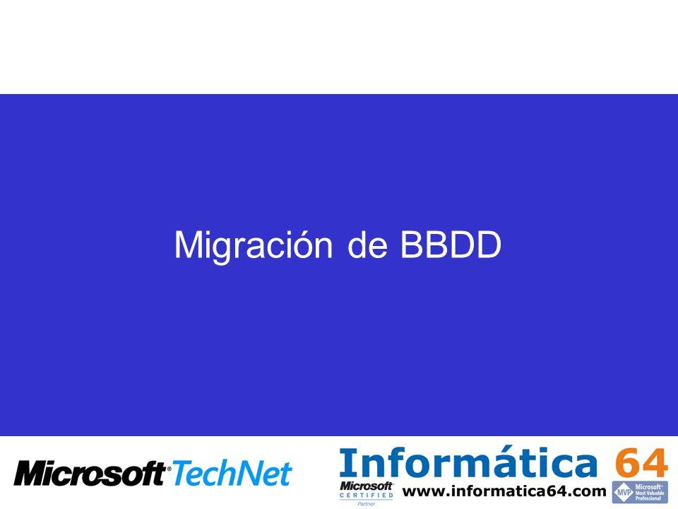 Migración de BBDD