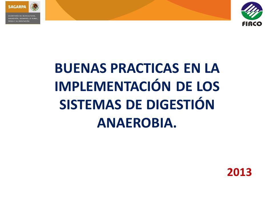 BUENAS PRACTICAS EN LA IMPLEMENTACIÓN DE LOS SISTEMAS DE DIGESTIÓN ANAEROBIA.