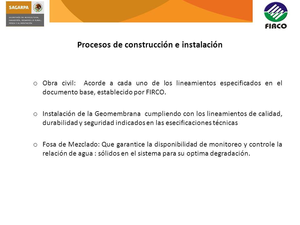 Procesos de construcción e instalación