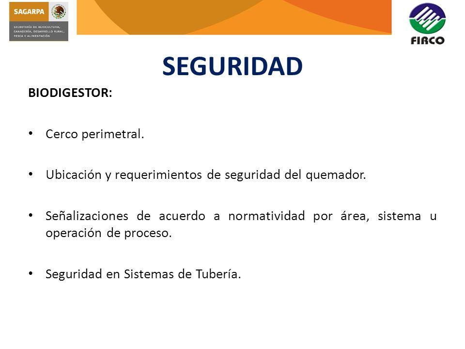 SEGURIDAD BIODIGESTOR: Cerco perimetral.