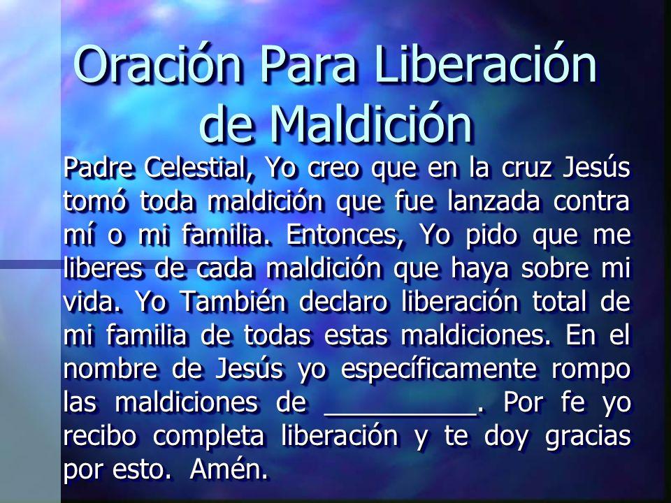 Oración Para Liberación de Maldición