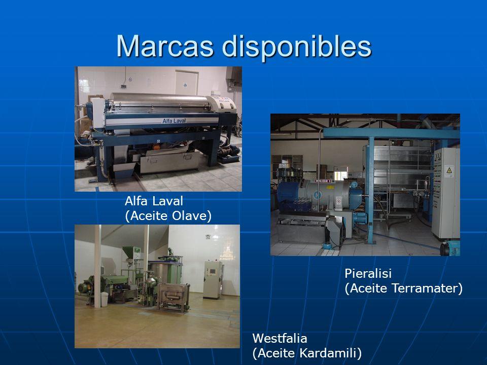 Marcas disponibles Alfa Laval (Aceite Olave) Pieralisi