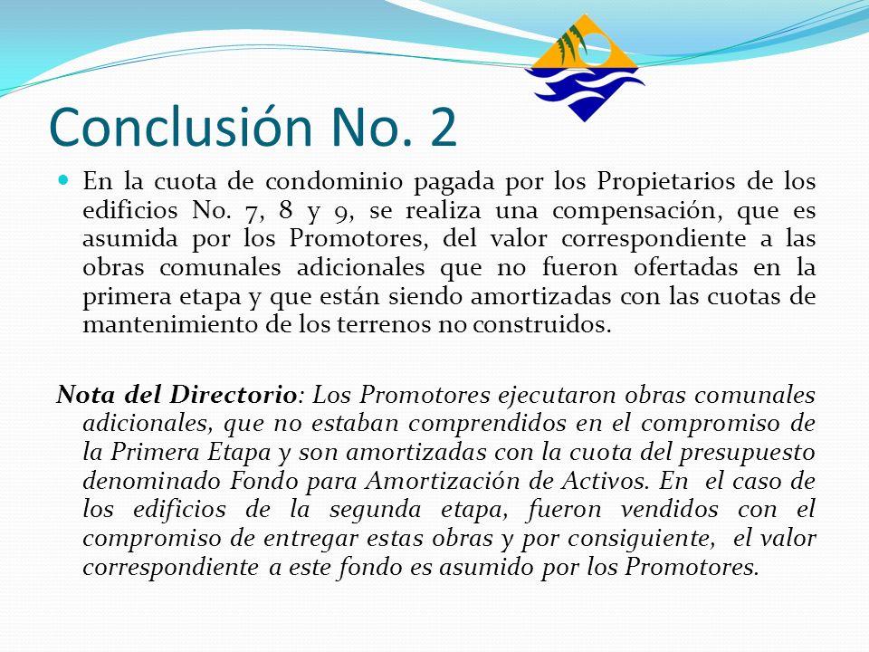 Conclusión No. 2