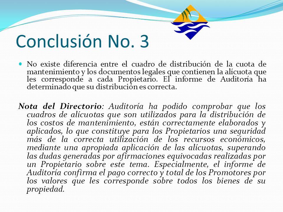 Conclusión No. 3