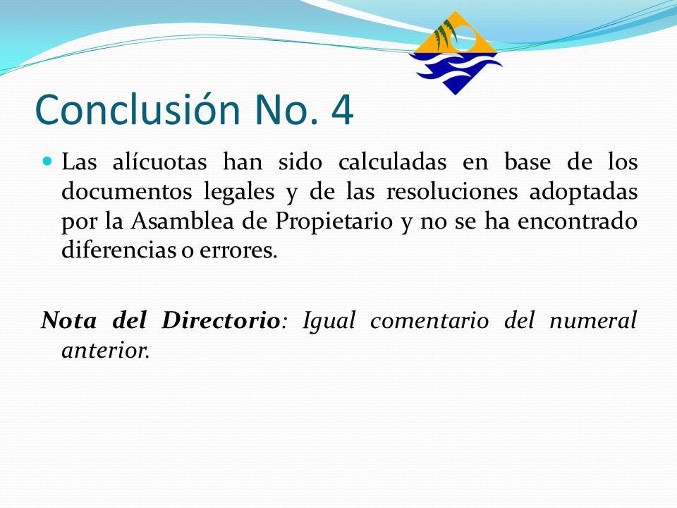 Conclusión No. 4