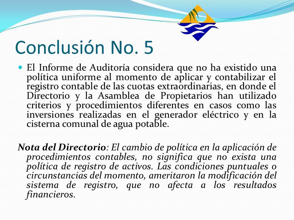 Conclusión No. 5