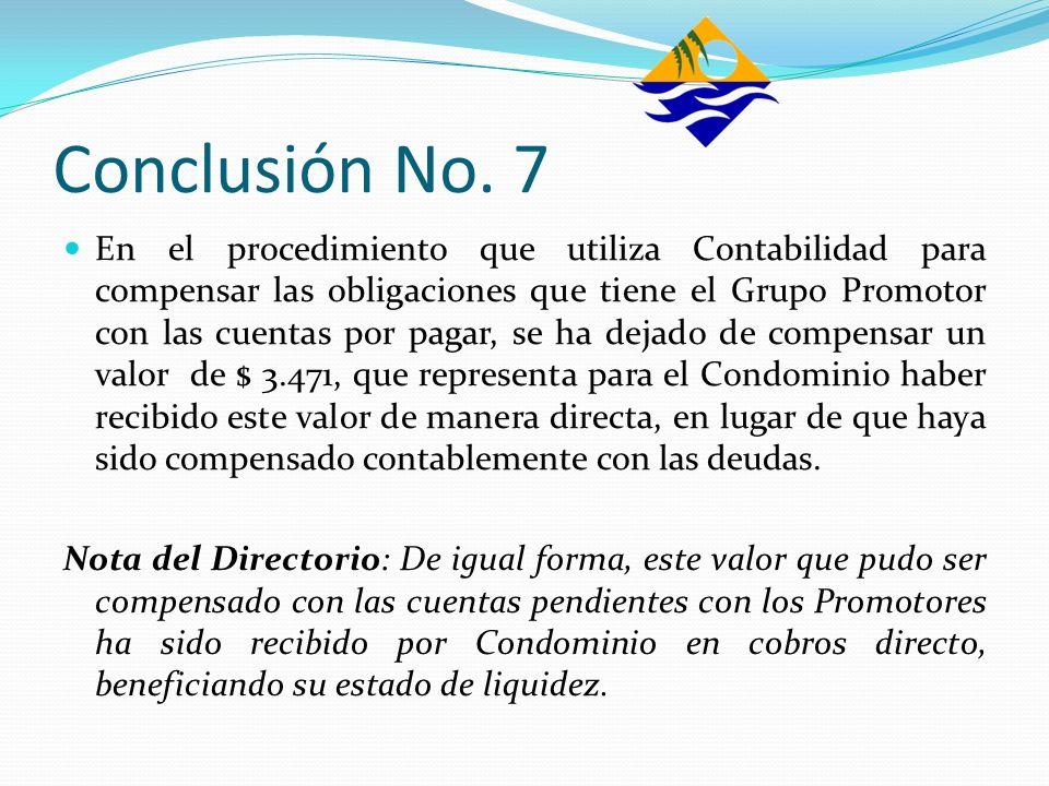 Conclusión No. 7