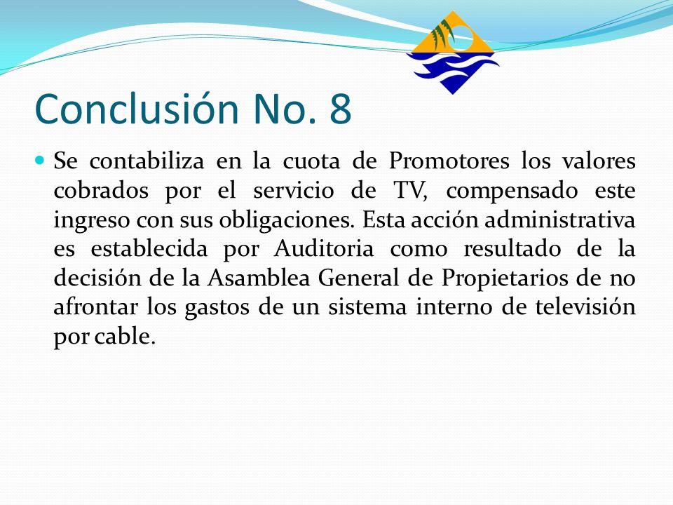 Conclusión No. 8