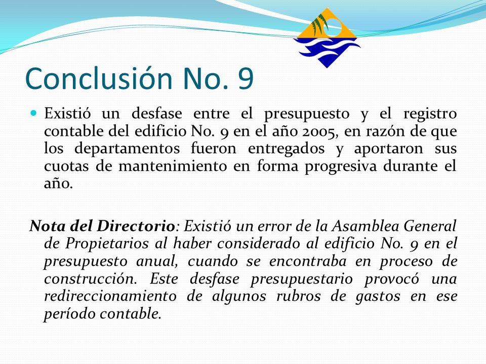 Conclusión No. 9