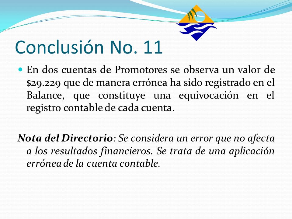 Conclusión No. 11