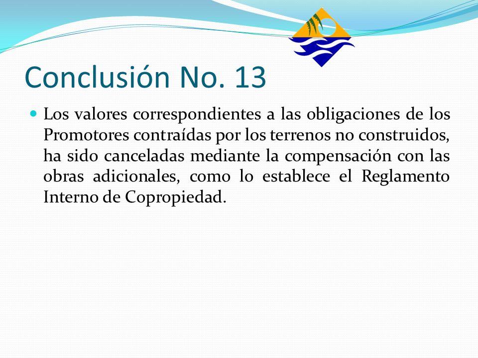 Conclusión No. 13
