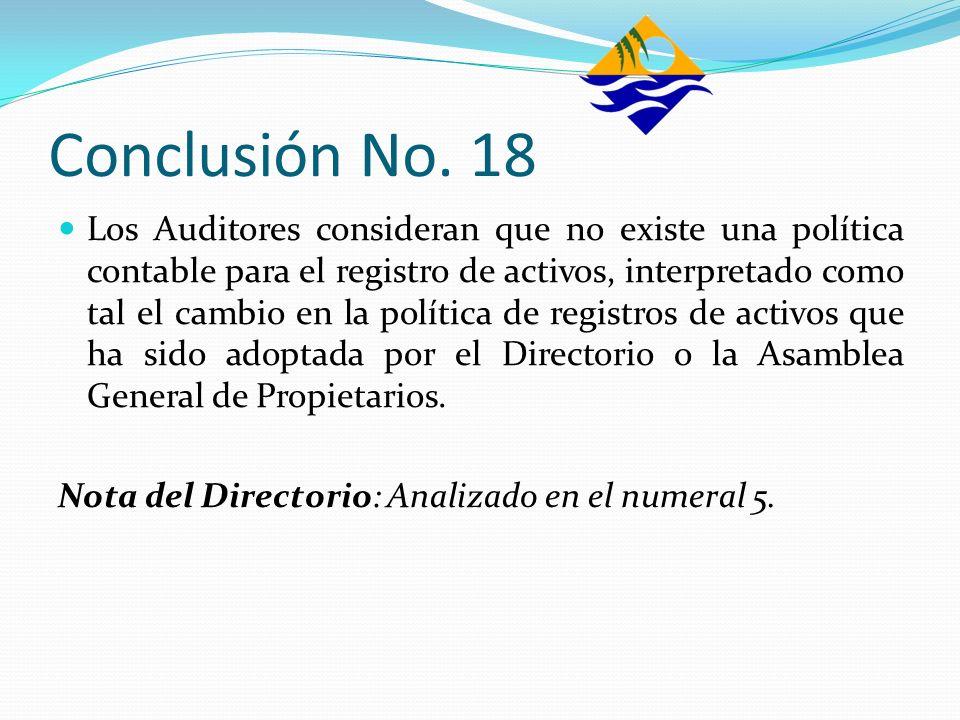 Conclusión No. 18