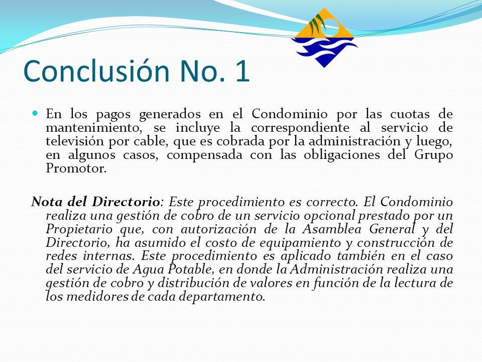 Conclusión No. 1