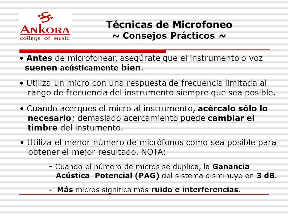 Técnicas de Microfoneo