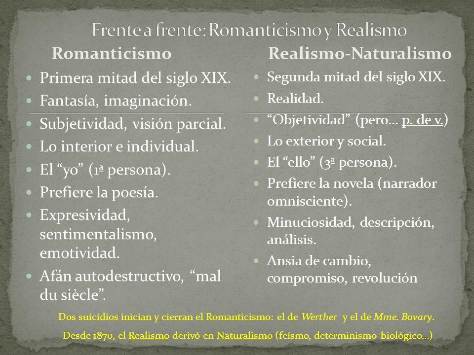 Frente a frente: Romanticismo y Realismo