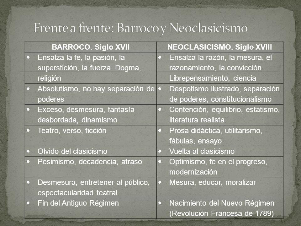 Frente a frente: Barroco y Neoclasicismo