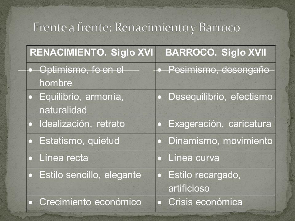 Frente a frente: Renacimiento y Barroco