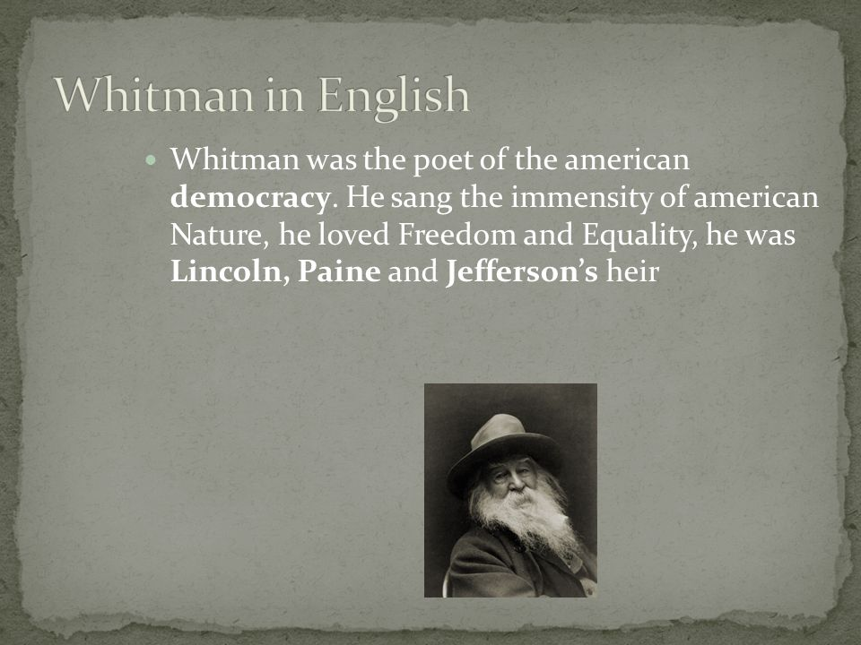 Whitman in English
