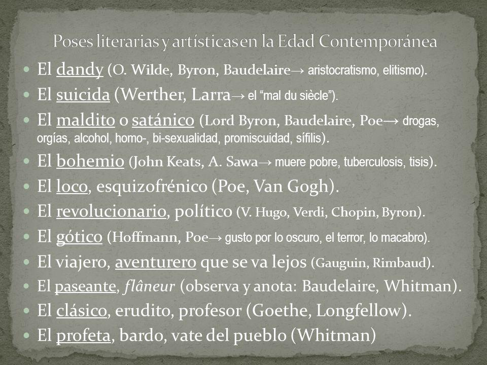 Poses literarias y artísticas en la Edad Contemporánea