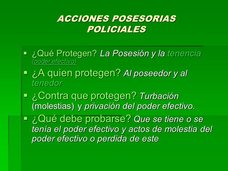 ACCIONES POSESORIAS POLICIALES