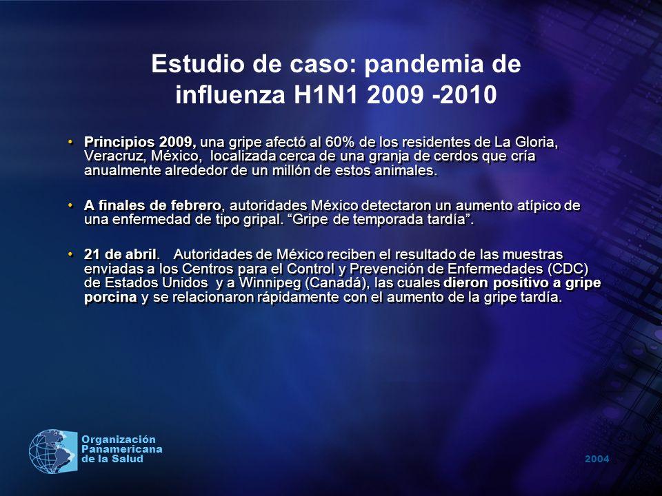 Estudio de caso: pandemia de influenza H1N1 2009 -2010