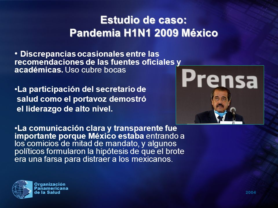Estudio de caso: Pandemia H1N1 2009 México