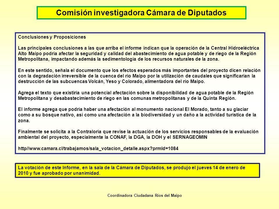 Comisión investigadora Cámara de Diputados