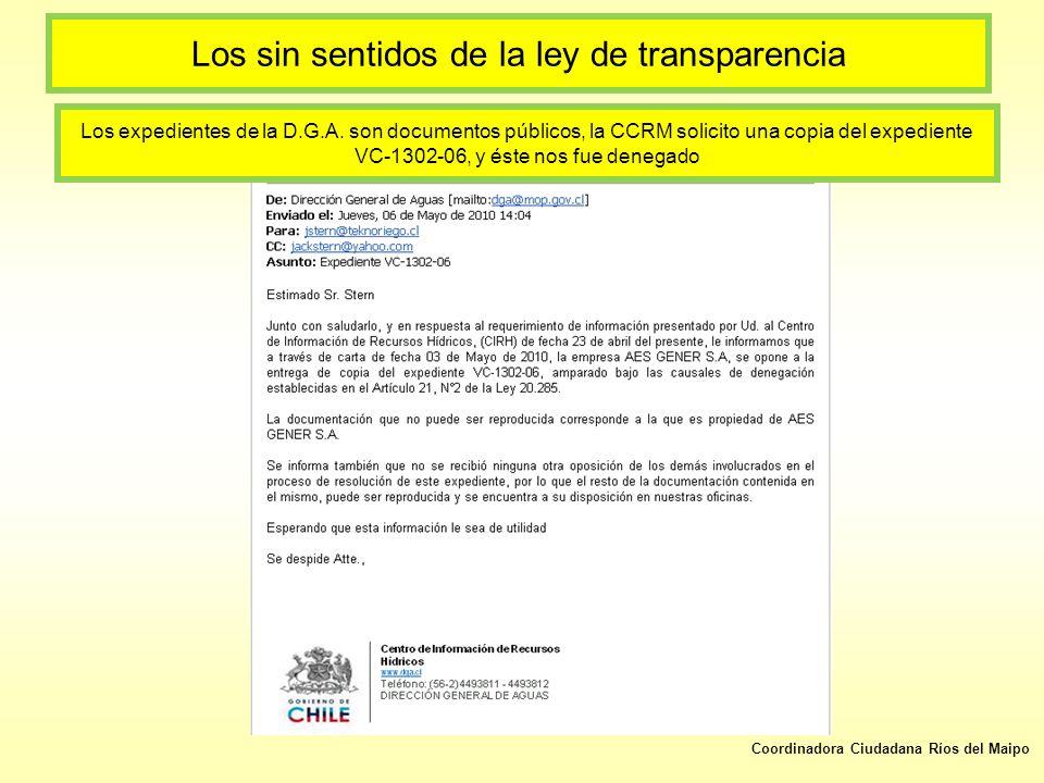 Los sin sentidos de la ley de transparencia