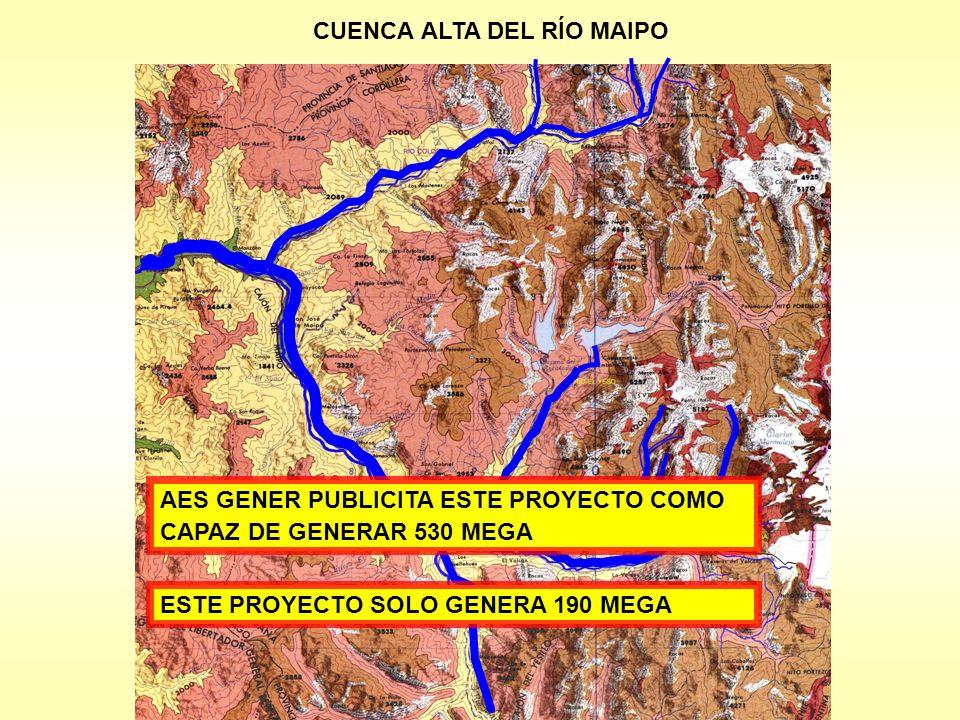 CUENCA ALTA DEL RÍO MAIPO