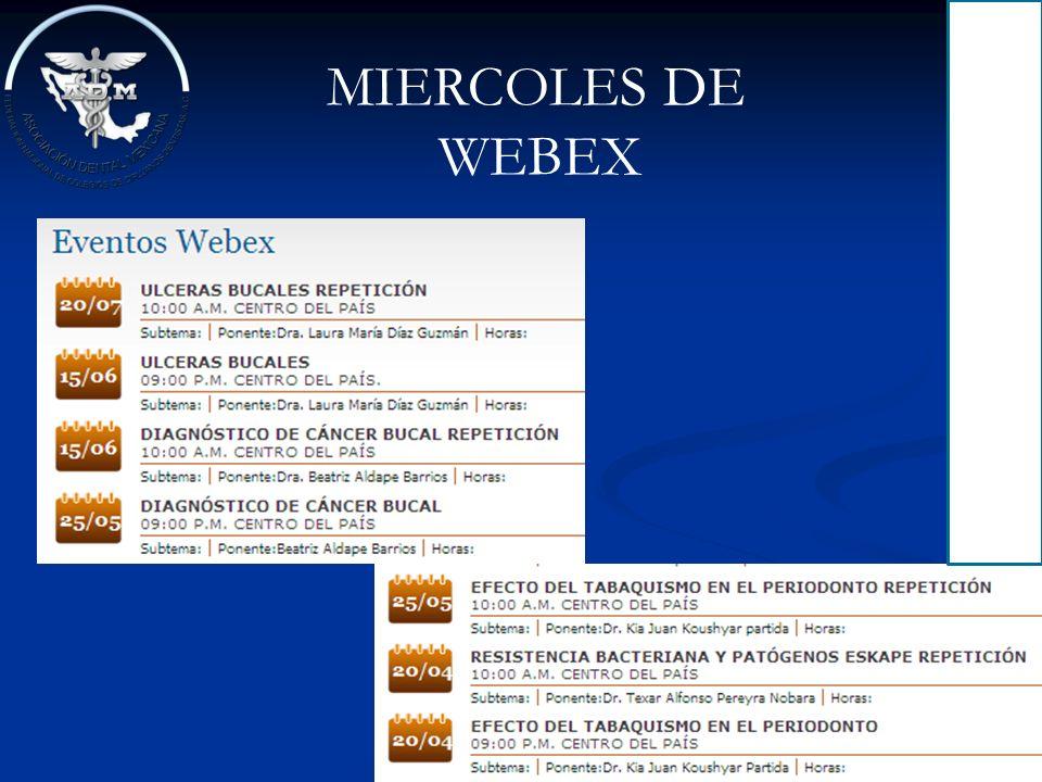 MIERCOLES DE WEBEX